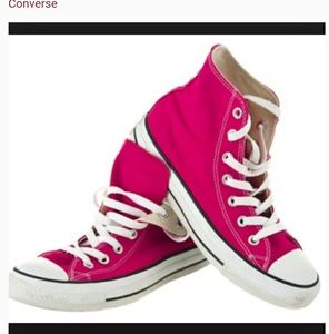 Converse Classic Hot Pink High Top Sneakers 11